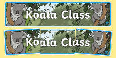 Koala Themed Classroom Display Banner