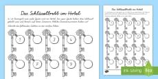 Das Schlüsselbrett im Hotel Arbeitsblatt: Erstes Zählen
