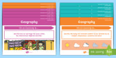 Year 1 Australian Curriculum Geography Content Descriptors Posters Display Pack