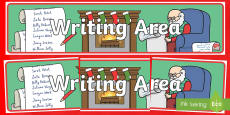 Christmas Writing Area Banner