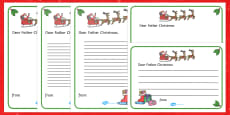 Letter to Father Christmas Writing Template