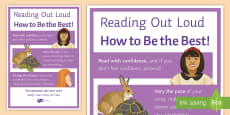 Reading Out Loud A4 Display Poster