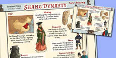The Shang Dynasty Facts Large Display Poster