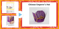 Chinese Emperor's Hat Craft PowerPoint