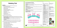 Debating Club Guidance and Plans for Teachers