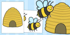 Bee and Beehive Cut Outs