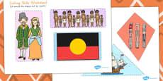 Australia - Aboriginal and Torres Strait Islander People Themed Cutting Skills Activity Sheet