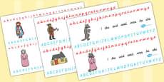 Little Red Riding Hood Alphabet Strips
