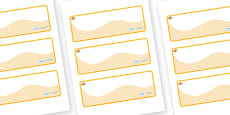 Clownfish Themed Editable Drawer-Peg-Name Labels (Colourful)