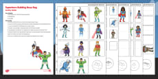 Superhero Building Activity Busy Bag and Resource Pack For Parents
