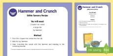 Hammer and Crunch Edible Sensory Recipe