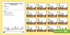 * NEW * Desert Sand Alphabet Writing Activity