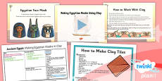 Art: Ancient Egypt: Making Egyptian Masks Using Clay UKS2 Lesson Pack 4