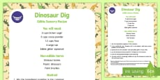Dino Dig Edible Sensory Recipe