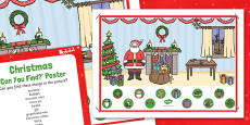 Christmas Can You Find...? Poster and Prompt Card Pack