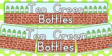 Australia - Ten Green Bottles Display Banner