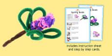 Springtime Buds Craft Instructions