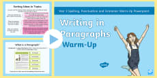 Year 3 Writing in Paragraphs Warm-Up PowerPoint