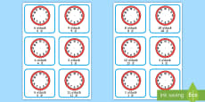 * NEW * Write the Time O' Clock Cards English/Mandarin Chinese