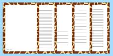 Giraffe Skin Page Borders