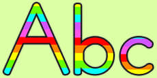 Australia - Stripey Rainbow Display Lettering