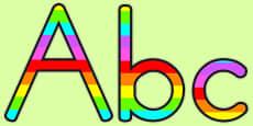 Australia - Stripey Rainbow Display Lettering