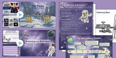 Tim Peake British Astronaut Resource Pack