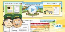 PlanIt Y1 Animals: to Support Teaching on Dear Zoo Lesson Pack Non-Chronological Report (2)