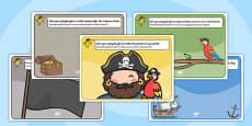 Pirate Playdough Mat Romanian Translation