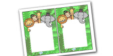 Editable Notes (Jungle Themed)