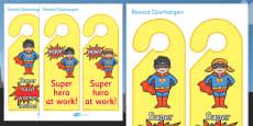 Superhero Reward Door Hangers