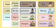 Stig of the Dump Vocabulary Cards