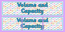 Volume and Capacity Display Banner