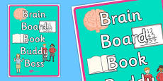 Brain Book Board Buddy Boss Display Poster