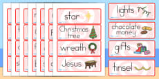 Australia Christmas Topic Word Cards