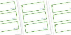 Poplar Tree Themed Editable Drawer-Peg-Name Labels (Blank)