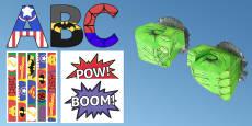 Incredible Work Superhero Themed Display Pack