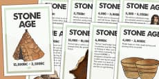 Stone Age Timeline Posters