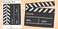 Film Studio Role Play Clapper Board