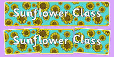 Sunflower Themed Classroom Display Banner