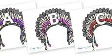 A-Z Alphabet on Headdresses