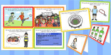 Football World Cup Stadium Role Play Challenge Cards