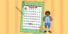 Football World Cup Counting in 10s Maze
