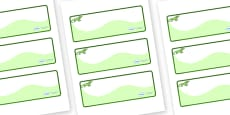 Iguana Themed Editable Drawer-Peg-Name Labels (Colourful)