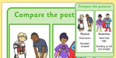 Compare The Postures - Passive vs Assertive