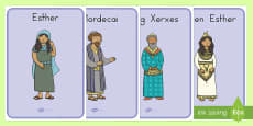 The Story of Esther Bible Story display Posters