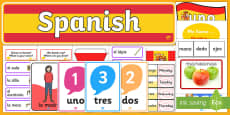 Spanish Language Basics Resource Pack