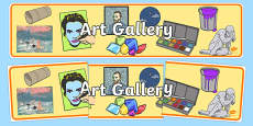 Art Gallery Role Play Display Banner