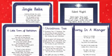 Christmas Carol Handwriting Practice   Activity Pack