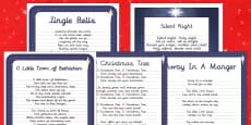 Christmas Carol Handwriting Practice   Activity Pack